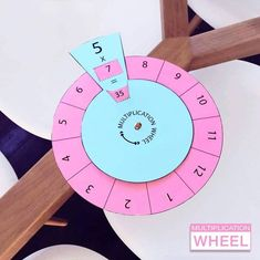 Interactive multiplication fact wheels for 1, 2, 3, 4, 5, 6, 7, 8, 9, 10, 11 and 12 times tables.