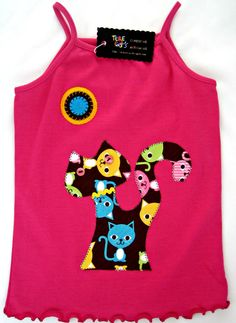 Cat tank top size 4 years by teresetas on Etsy, $20.00