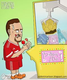 Ribéry (por fín) a punto de conseguir el balón de oro.