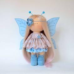 Crochet Doll Clothes, Knitted Dolls, Crochet Dolls, Pretty Dolls, Cute Dolls, Pink Doll, Crochet Mouse, Waldorf Dolls, Soft Dolls