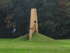 Giant clothespin in the landscape, Chaudfontaine park, Belgium. Designed by Turkish artist Mehmet Ali Uysal. Follow AmiPlanet on pinterest.com/AmiPlanet/