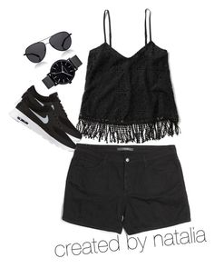 """""""Untitled #3"""" by astutinatalia on Polyvore featuring Abercrombie & Fitch, Joe's Jeans, NIKE, The Row and The Horse"""