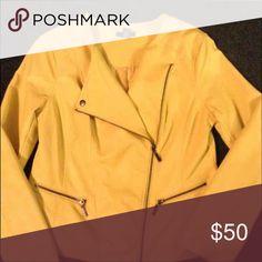 Alfani Faux Leather Jacket Neon; Worn once; very stylish; smoke free and pet free home. Reasonable offers accepted. Alfani Jackets & Coats