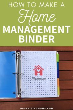 Manage Your Home and Routines with this One Binder. How to make a practical home management binder that simplifies your to-do list. A must-have home management tool for every household. Organize kids schedules, appointments, home routines, home schedule, cleaning schedule, and everything you need to know! Reduce stress by getting it out of your head and onto paper in this easy, simple binder. Great for babysitters and grandparents also! #organizingmoms
