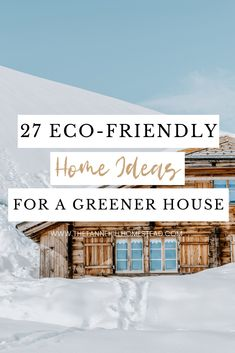 Ready to take sustainable living to the next level? Check out these 27 eco-friendly home ideas that can help you have a greener house! Sustainable Architecture, Sustainable Design, Sustainable Living, Sustainable Energy, Sustainable Houses, Green Living Tips, Eco Friendly House, Green Life, Sustainability