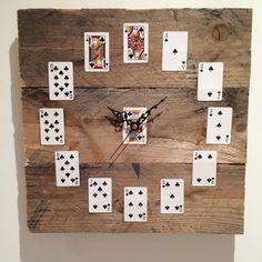 Pallet Wood Clock in Home, Furniture & DIY, Clocks, Wall Clocks   eBay!