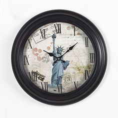 Special Offers - Joveco Vintage Style Statue of Liberty Hanging Wall Clock - In stock & Free Shipping. You can save more money! Check It (May 02 2016 at 08:36PM) >> http://wallclockusa.net/joveco-vintage-style-statue-of-liberty-hanging-wall-clock/