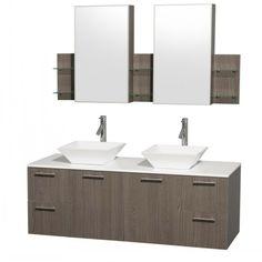 grey bathroom cabinets | Kitchen And Bath Warehouse Home >> Bathroom Vanities >> Vanities by ...