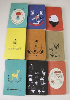 Set of 9 Pocket Notebooks Handmade By Mossery. $36.00, via Etsy.