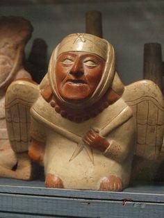 moche bird man Pottery in Museo Rafael Larco Herrera ´Peru