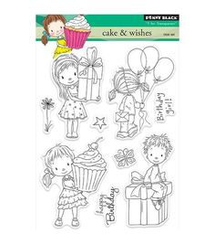 Penny Black T for Transparent Clear Stamps Cakes & Wishes