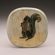 squirrel band - accordion , plate, 7 x 7 x 1 Ruchika Madan