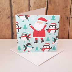 Christmas Mini Cards, Small Christmas Enclosure Cards, Santa Cards, Christmas Gift Tags, Blank Note Cards, Gift Tag Set, Mini Envelopes by TiddleywinksDesigns on Etsy
