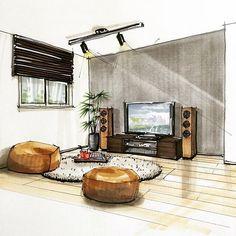 Pin von ekta batra auf interiors pinterest for Raumgestaltung innenarchitektur studium
