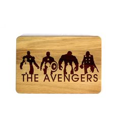 The Avengers Cutting Board Iron Man Captain America Hulk Dr Banner... ($25) ❤ liked on Polyvore featuring cookware, cutting boards, grey, home & living and kitchen & dining