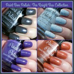 Paint Box Polish: The Knight Bus Collection - Swatches and Review | Pointless Cafe