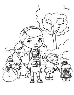 imagens para colorir doutora brinquedos