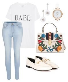 """Basic"" by pitaa29 on Polyvore featuring Kate Spade and Gucci"