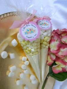 Delightful Baby Shower Lemonade Cones  Possibly A Different Cookie Mix But A Cute Idea  For Take