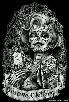 Resultado de imagen para plantilla tatoo dia de los muertos
