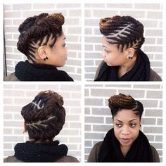 Twisted Updo Tutorial ..Kinky, Curly,Relaxed,Extensions  Board