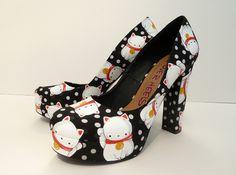 Maneki Neko Kitty Shoes?  I'm IN!  I want these!!!!