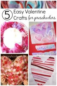 5 more Valentine Crafts for Toddlers and Preschoolers