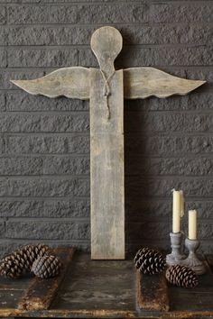 Primitive Christmas angel - Engel van sloophout | Kerst | Tante Jo & Zo