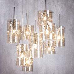 Perla Cluster Glass Ceiling, Ceiling Pendant, Pendant Lighting, Chandelier, Ceiling Lights, Party Lights, Glass Pendants, Monet, Light Fixtures