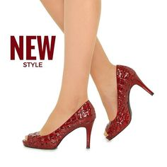 Red High Heels, Ruby Red, Shoes Online, Blue Sapphire, Light In The Dark, Designer Shoes, Red Wine, New Look, Peep Toe
