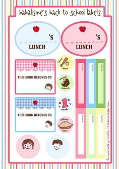 Over 50 great free printables for school kids. Free party printables, worksheets, tags, labels and more! Featured on Living Locurto.