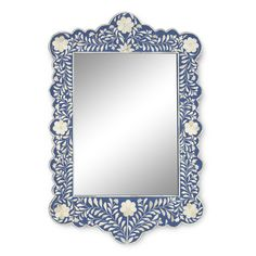 Sapphire & Bone Inlay Scalloped Mirror $660.00