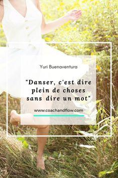 """""""Danser, c'est dire pleine de choses sans dire un mot"""" #yuribuenaventura #citation #quote #développementpersonnel #psychologiepositive #positivepsychologie"""