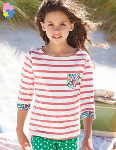 Stripy Boat Neck 31831 Essentials at Boden Essentials, Mini Boden, Egg Hunt, Boat Neck, T Shirts, Girls, Kids Fashion, Girl Outfits, Easter