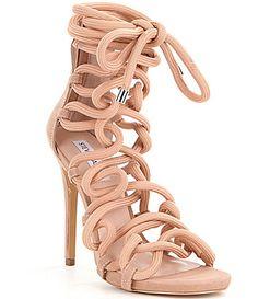 8c412801301 Steve Madden Dancin Back Zip Bungee Inspired Lace-Up High Heel Dress  Sandals