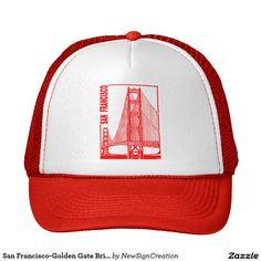 San Francisco-Golden Gate Bridge Trucker Hat