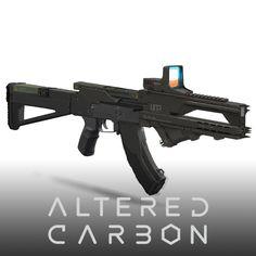 Altered Carbon - Shock Trooper Rifles, WETA WORKSHOP DESIGN STUDIO on ArtStation at https://www.artstation.com/artwork/XQPyY
