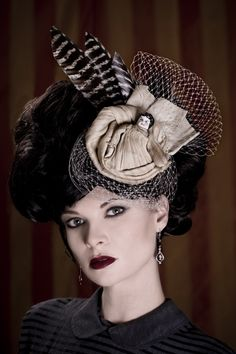 Anything can be a fascinator, I guess. Hat by Hey Sailor!