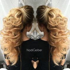 Кто любит хвосты как люблю их я?) Hair by me @hudabeauty @wakeupandmakeup…