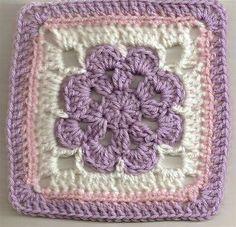 Crochet granny square. Pretty colour combination
