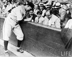 Al Capone at a baseball game.