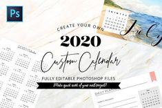 2020 Fully Editable Calendar Kit by Blissful Pixels on Creative Market – Calendar Template İdeas. Desktop Calendar, Calendar Pages, Desk Calendars, Calendar 2020, Planner Board, Planner Pages, December Calendar, Edit Online, All Fonts