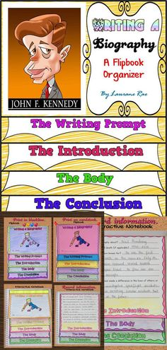 Scaffold the writing of a Biography for your students with this structured flip-book graphic organizer. You will find *Blackline flip-book templates*Colored flip-book templates*Poster defining a Biography*Self and peer-editing Checklist*Teacher Grading Rubric $