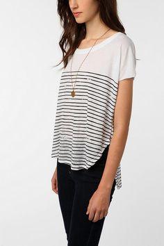 mouchette shirttail stripe tee $34