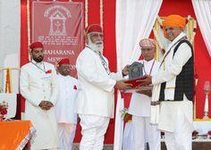 Shriji Arvind Singh Mewar of Udaipur, Chairman and Managing Trustee, Maharana of Mewar Charitable Foundation (MMCF) presenting Dagar Gharana Award to Mr. Prahlad Singh Tipaniya  Venue: The Manek Chowk, The City Palace, Udaipur  Know more about awards - http://www.eternalmewar.in/collaboration/awards/index.aspx  #MMFAA2016 #MMFAA #MMCF #Awards #MaharanaOfMewarCharitableFoundation #MaharanaMewarFoundationAnnualAwards #UdaipurAwards #EternalMewar #Mewar #Udaipur #Rajasthan #India