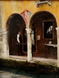 "Deep in Venice, Oil Painting, 14"" x 11"" $925"