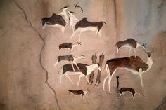 Art Pariétal, Cave Drawings, Out Of Africa, Ancient Artifacts, Africa Travel, Rock Art, Cave Painting, Archaeology, South Africa