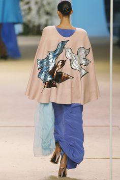 Yves Saint Laurent Spring 2002 Couture Retrospective. Ensemble from 1980 Bracque Tribute Collection.