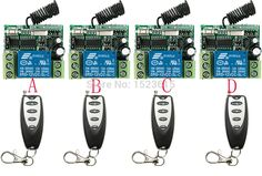27.97$  Buy here - http://alib2n.shopchina.info/go.php?t=32743885351 - NEW DC12V 1CH 10A 4PCS Receiver + 4PCS Transmitter RF Wireless Remote Switch teleswitch Momenrary Toggle Latched Adjustable  #SHOPPING