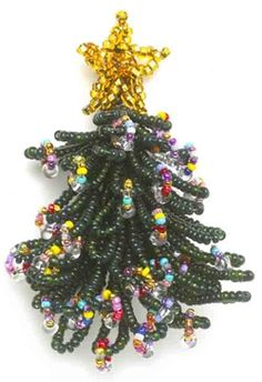 Christmas tree pin: wirework - Bead Magazine